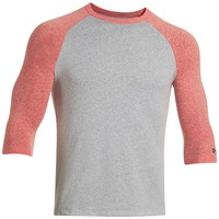 Under Armour Charged Cotton Tri Blend 3/4 Sleeve Tee - Men's Small - Noise / Aluminum / Steel