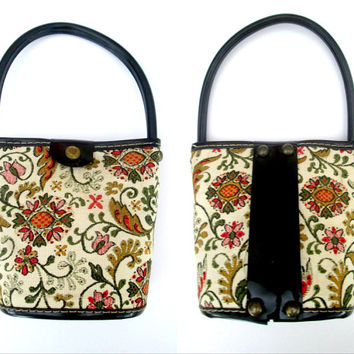 Child's Vintage Handbag Pocketbook Purse with Handle Mid Century 1950s 1960s