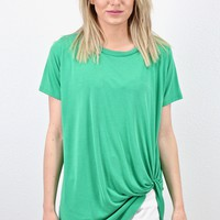 Get Twisted Comfy Short Sleeve Basic {Green}