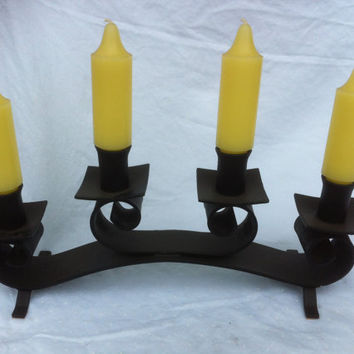 Wrought Iron scroll candle holder