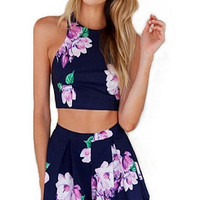 Jumpsuit Sleeveless Floral Print Playsuit Cocktail Beach Romper