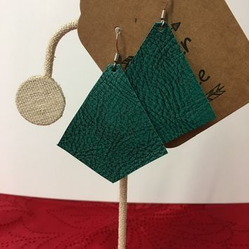 Teal Me Another One Leather Earrings