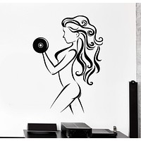 Vinyl Wall Decal Beautiful Body Girl Sports Fitness Health Gym Stickers Unique Gift (755ig)