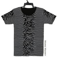 Joy Division Unknown Pleasures Black Short Sleeve Women Tee Shirt Indie Punk Music Rock T-Shirt Size S-M
