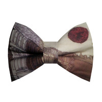 I'm wide awake it's morning. Bright eyes Bowtie Made by by birties