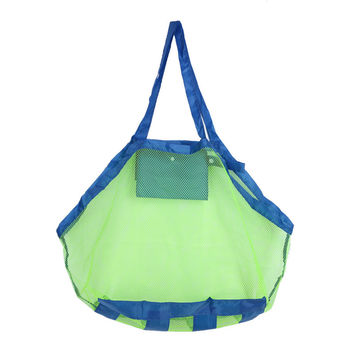 LS4G Baby Children Beach Mesh Bag Children Beach Toys Clothes Towel Bag Baby Toy Collection Nappy