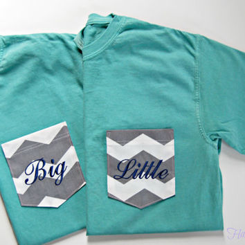 Sorority Monogrammed Pocket T Shirts