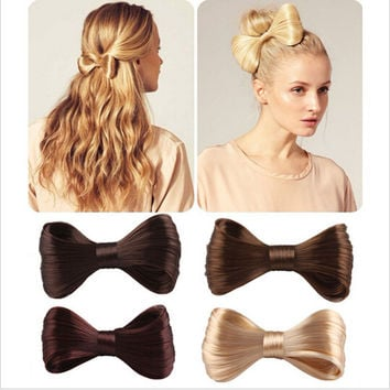 2016 Harajuku New Fashion Big Bow Ties Wig Hairpin Hair Bow Clips Women Girls' Hair accessories Bridal Hair 2 Style