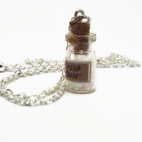 Wish Dust Necklace, Wish Dust Jewelry, Pixie Dust Charm, Fairy Necklace, Fairy Jewelry, Pixie Dust Bottle Jewelry, Gift for Girl (B142)