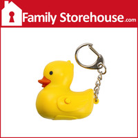 Duck Keychain with LED Light