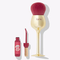 wine not lip gloss & brush set | Tarte Cosmetics