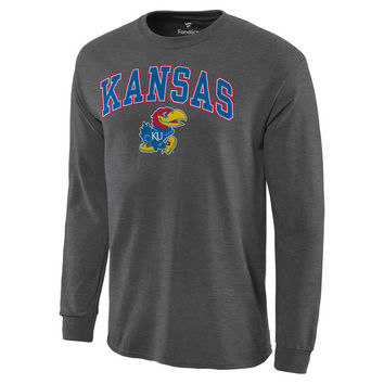 Kansas Jayhawks Campus Long Sleeve T-Shirt - Charcoal