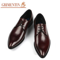 GRIMENTIN Fashion Italian men business leather dress shoes  2016 luxury brand