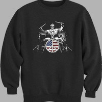 Abraham Lincoln Drum Sweater for Mens Sweater and Womens Sweater *