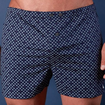 Navy Bicycles Print Boxer Short - Scooter