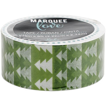 Green Geometric Christmas Tree Washi Tape - 9 Ft by 7/8 Inches: Heidi Swapp Marquee Love