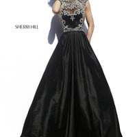 Sherri Hill 4332 Open Back Long Prom Dress