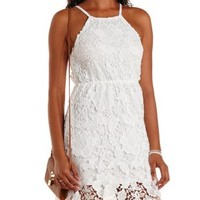Racer Front Crochet Dress by Charlotte Russe