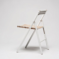 Steel wooden folding chair by Reinier de Jong