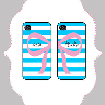 iPhone  Case- Best Friends Case- iPhone 4 Case, iPhone 4s Case, iPhone 5 Case, Monogram Case, Personalized iPhone Case