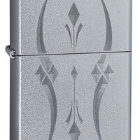 Zippo Pristine Curves Satin Chrome Lighter
