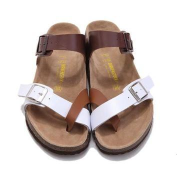 New Style Birkenstock Summer Fashion Leather Cork Flats Beach Lovers Slippers Casual S
