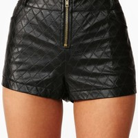 Quilted Zip Shorts