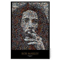 Bob Marley  Photomosaic Poster on Sale for $7.95 at The Hippie Shop