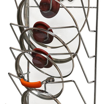 Kitchen Cabinet Pot & Pan Wall or Cabinet Mounted Lid or Tupperware Top Organizer Rack