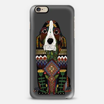 Basset Hound love pewter iPhone 6s case by Sharon Turner   Casetify