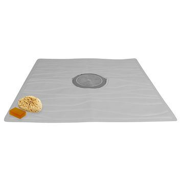 """Evelots Non Slip Bath & Shower Mat With Powerful Suction Cups, 22"""" X 22"""""""