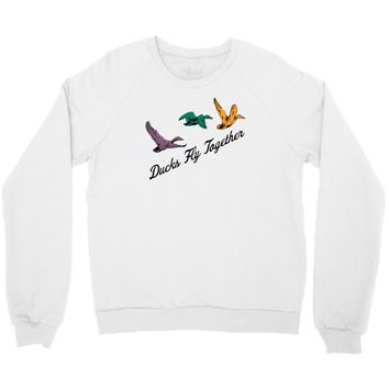 ducks fly together Crewneck Sweatshirt