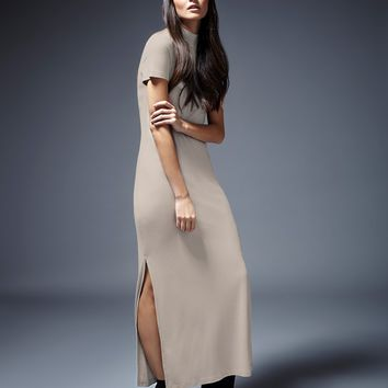Noisy May Turtle Neck Side Split Jersey Dress