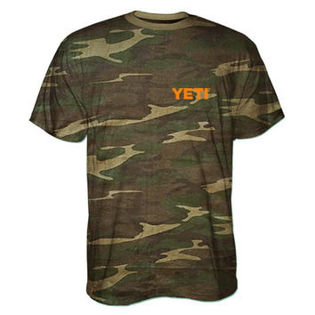 YETI Built For the Wild Camo Short Sleeved T-Shirt