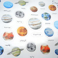 Solar System Sticker, Outer Space, Space Sticker, Laptop Sticker, Planer Sticker, Planet Sticker