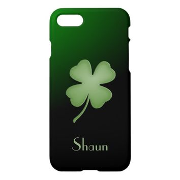 Four Leaf Clover Personalized iPhone 7 Case