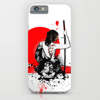 Trash Polka - Female Samurai iPhone & iPod Case by Nicklas Gustafsson