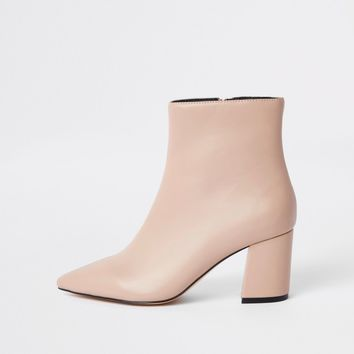 Pink pointed block heel boots - Boots - Shoes & Boots - women
