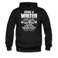 BEING-A-WRITER-IS-EASY-ITS-LIKE-A-RIDING-A-BIKE_1_hoodie sweatshirt tshirt