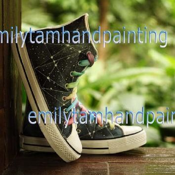Geometric Converse Sneakers,Custom Converse, Fashion Shoes, Special Gifts for Boys and