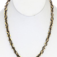 NECKLACE / LINK / BRASS / METALCHAIN / 1/4 INCH DROP / 19 INCH LONG / NICKEL AND LEAD COMPLIANT