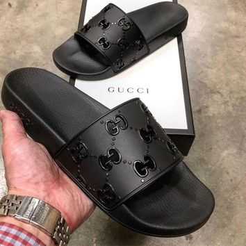 GUCCI GG Slide Slippers Sandals