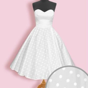 Polka Dot Overlay for Wedding Dress | Get Go Retro