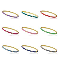 Little Miss Twin Stars LMTS STACKABLE STUNNERS Bangles with CZ Spacers Children'