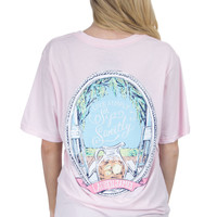 Lauren James Short Sleeve Tee- Sip Sweetly- Pink