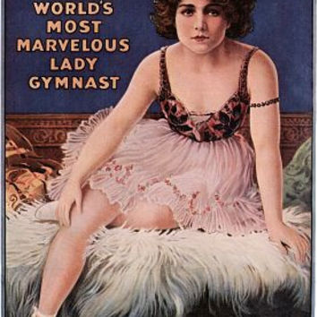 Dainty Miss Leitzel Lady Gymnast Circus Poster