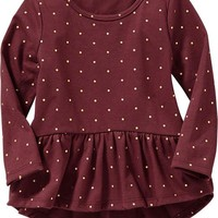 Long-Sleeved Peplum Tops for Baby