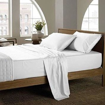 6 Pack Queen size (96 x120) Flat Sheet - T300 Luxury 100% Egyptian Cotton -incredibly soft and luxurious breathable fabric (6, Queen)