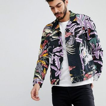 Levi's Denim Hawaiian Print Trucker Jacket at asos.com