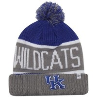 '47 Brand Kentucky Wildcats NCAA Calgary Knit Hat - Royal Blue/Gray